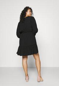 Forever New Curve - COLETTE SKATER WRAP DRESS - Day dress - black - 2