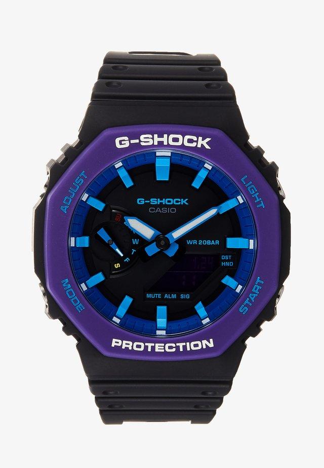 GA-2100 THROWBACK SET - Klokke - black /purple