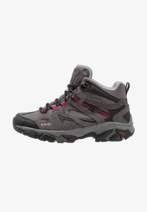 RAVUS VENT MID WP WOMENS - Outdoorschoenen - charcoal/cool grey/amaranth