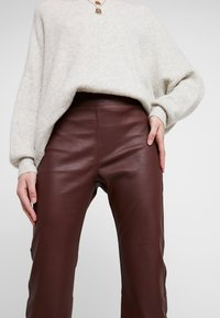 InWear - Leather trousers - bitter chocolate - 4