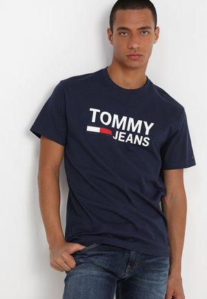CLASSICS LOGO TEE - Print T-shirt - blue