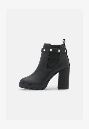 JEWELZ - High heeled ankle boots - black paris