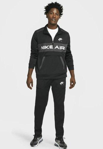 Tracksuit bottoms - black/dark smoke grey/white/white
