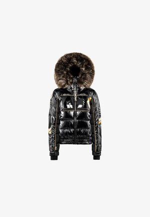 STREET - Down jacket - black wet black gold