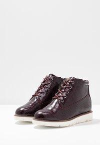 Bianco - BIAASTA WARM WEDGE - Ankle boot - burgundy - 4