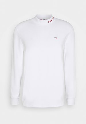 LONGSLEEVE HIGH NECK TEE - Long sleeved top - white
