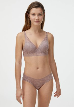 Triangle bra - mauve