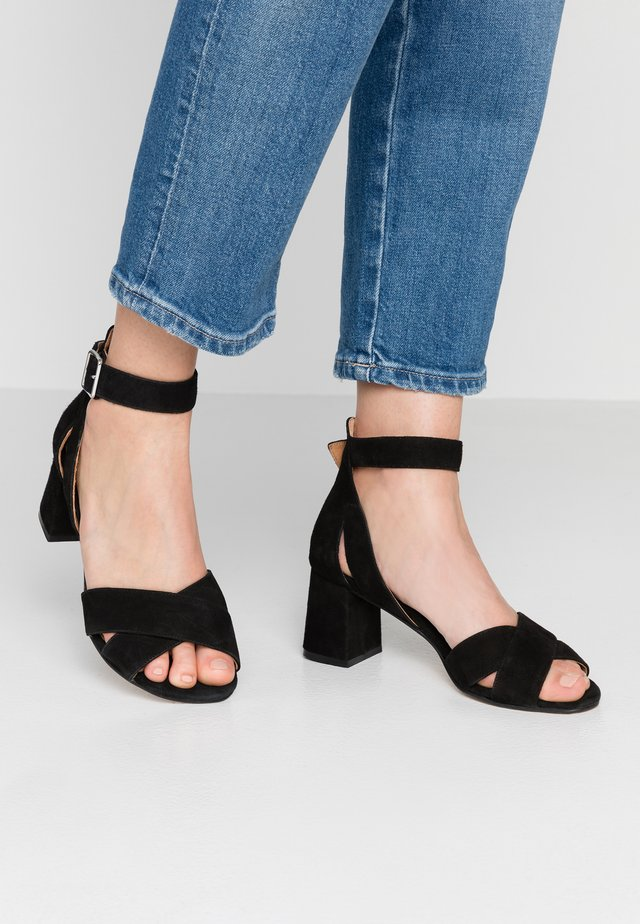 MAY CROSS - Sandals - black