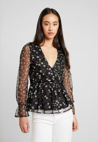 Wednesday's Girl - RUFFLE CUFF WRAP - Blouse - black - 0