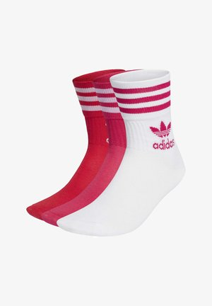 MID CUT CREW NECK SOCKS ADICOLOR - Socks - white/bold pink/bold red