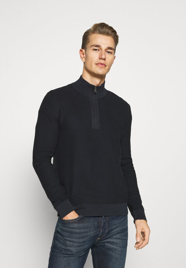 TROYER WITH ZIP - Jumper - dark blue