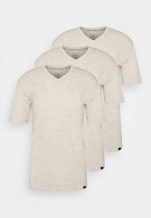V NECK 3 PACK - Basic T-shirt - off white
