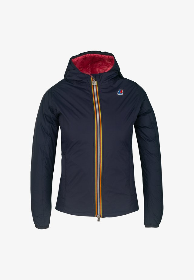 THERMO PLUS. 2 DOUBLE - Down jacket - blue maritime-red claret
