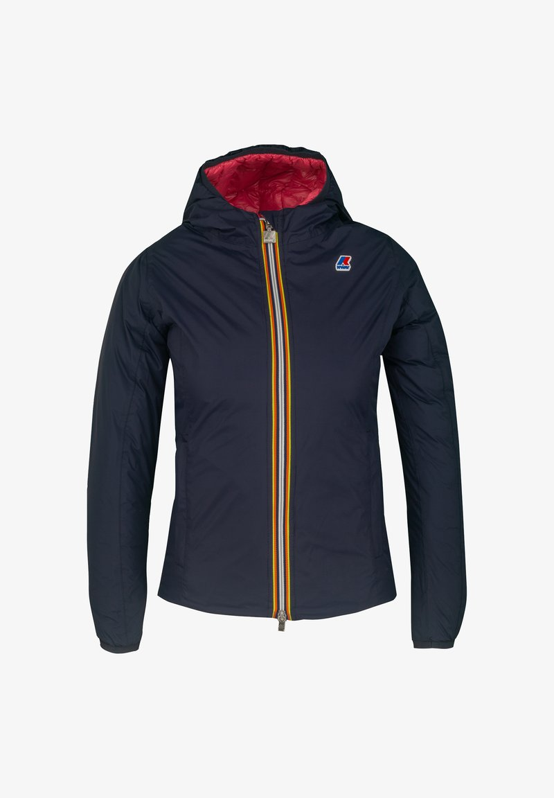 K-Way - THERMO PLUS. 2 DOUBLE - Down jacket - blue maritime-red claret