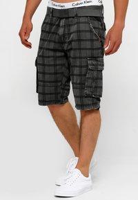 INDICODE JEANS - BLIXT - Shorts - raven check - 3