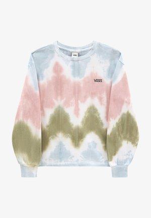 WM RUE BOXY CROP LS - Sweatshirts - tie dye