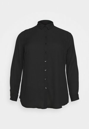 PLAIN SHIRT - Button-down blouse - black