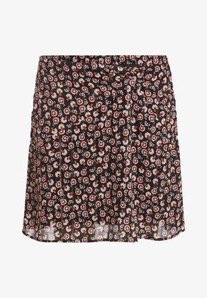 MIT GERAFFTEN - A-line skirt - noir