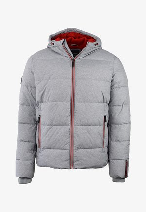 Winterjas - grey marl/risk red