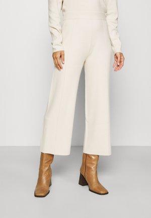 PANTS CULOTTE - Trousers - smooth light sand melange