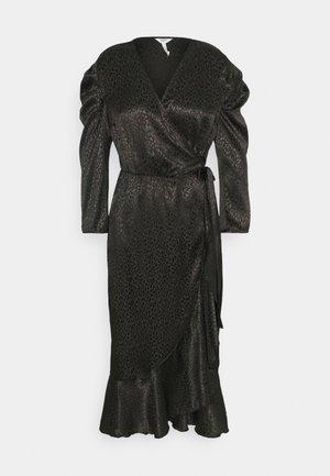 OBJVICTORIA WRAP DRESS - Day dress - black