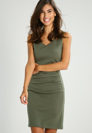 SARA DRESS - Tubino -  old green