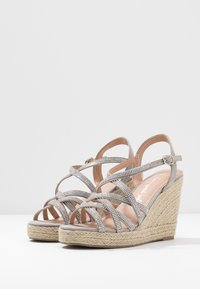 New Look Wide Fit - WIDE FIT OSPARKLE - High heeled sandals - mid grey - 4