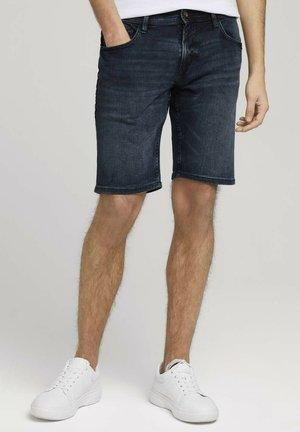 Denim shorts - mid stone blue black denim