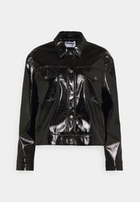 Noisy May - NMCRINKEL SHORT JACKET - Faux leather jacket - black - 0