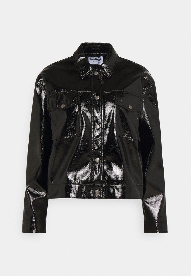 Noisy May - NMCRINKEL SHORT JACKET - Faux leather jacket - black