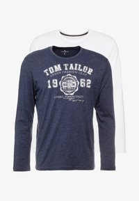 TOM TAILOR - 2 PACK - Long sleeved top - real navy blue