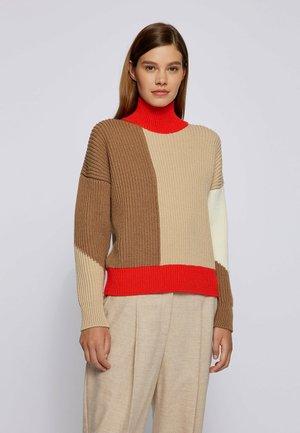 FALISHA - Jumper - red/brown/beige