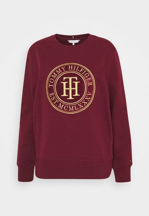 REGULAR - Sweatshirt - deep rouge
