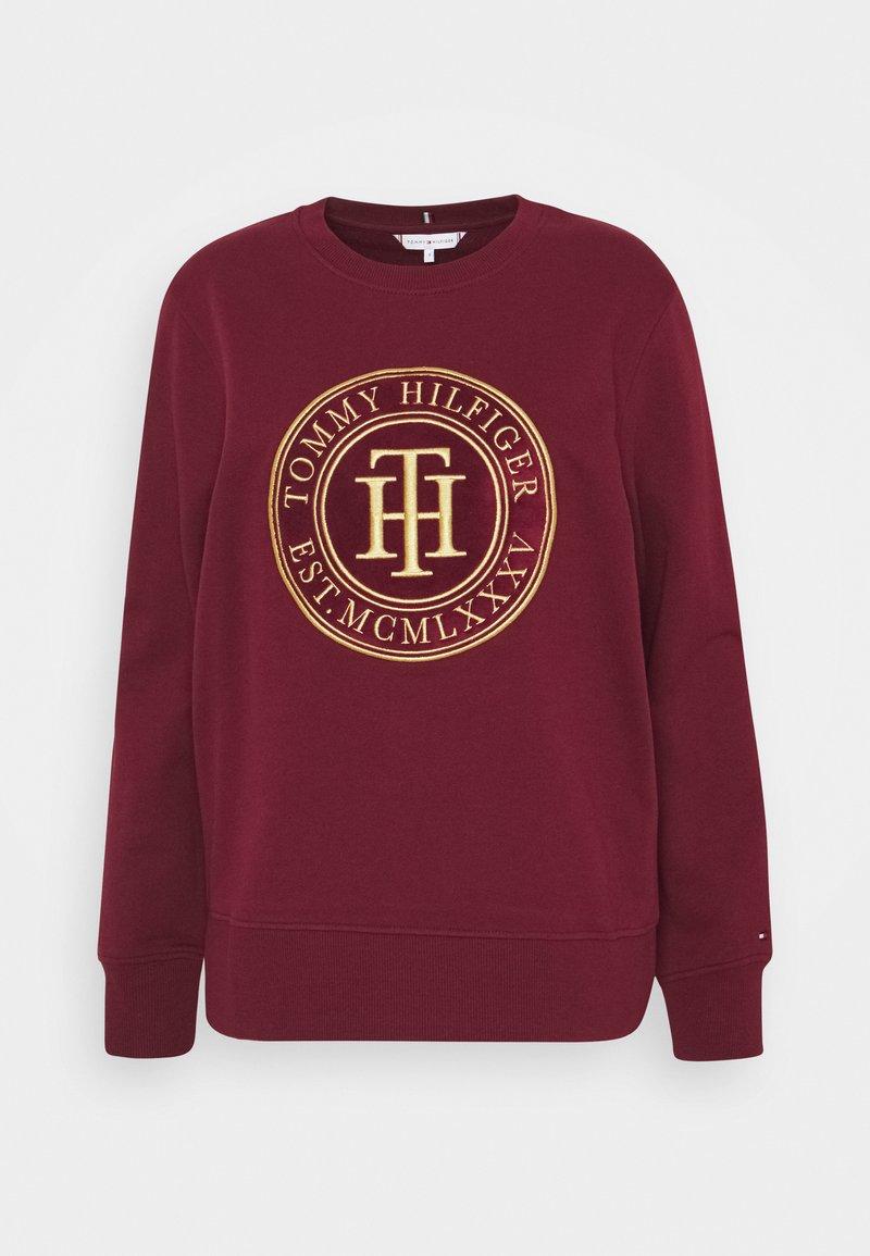 Tommy Hilfiger - REGULAR - Sweatshirt - deep rouge