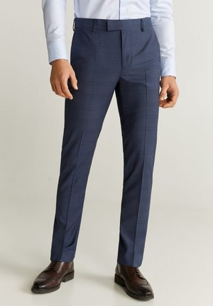 SLIM FIT ANZUGHOSE AUS SCHURWOLLE - Suit trousers - tintenblau
