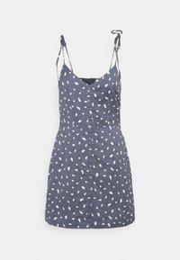 Abercrombie & Fitch - TIE STRAP SHORT DRESS - Sukienka letnia - blue - 5