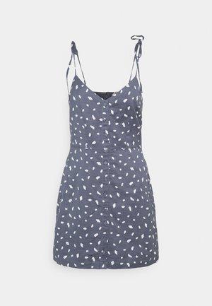 TIE STRAP SHORT DRESS - Day dress - blue