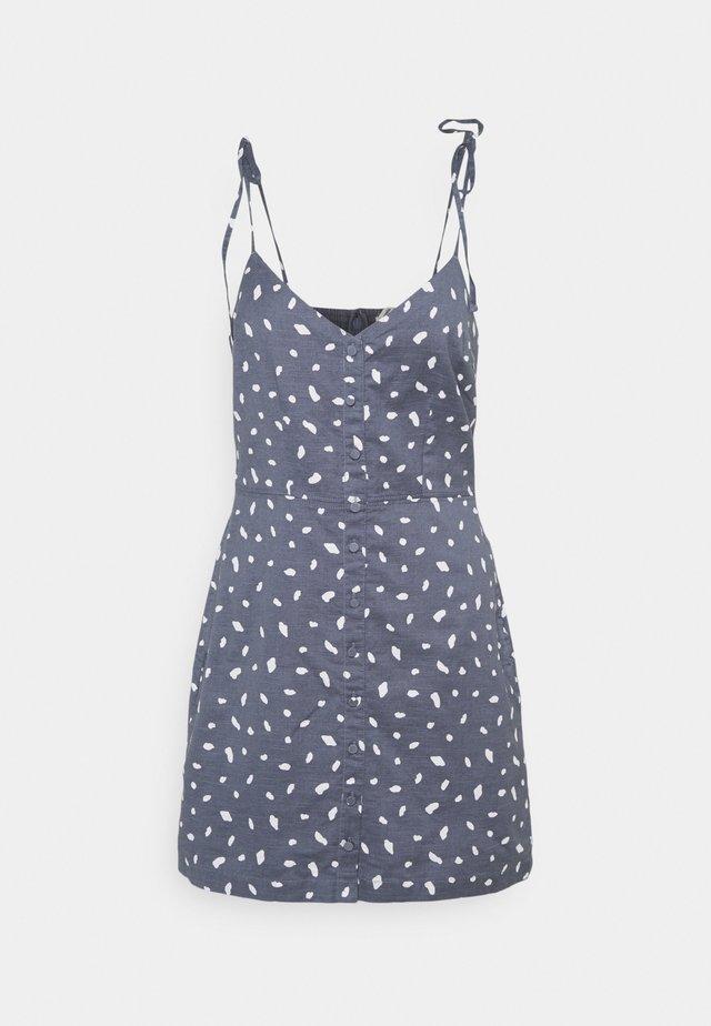 TIE STRAP SHORT DRESS - Vestito estivo - blue