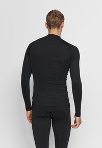 Nike Performance - PRO TIGHT MOCK - Sports shirt - black/white - 2