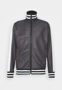 Mikina na zip - grey/black check