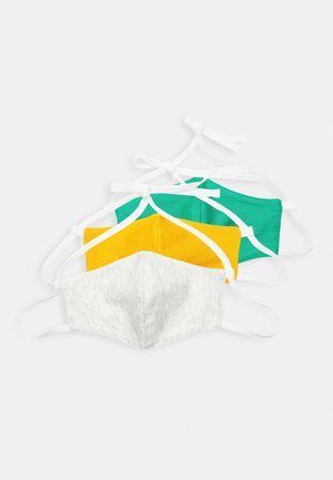 3 PACK - Stofmaske - white/green/yellow