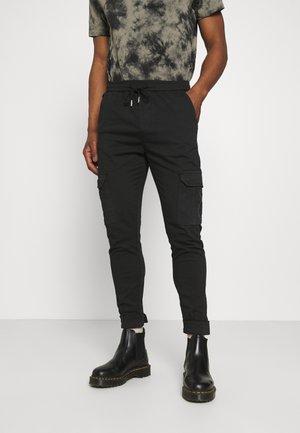 CREW - Cargo trousers - black