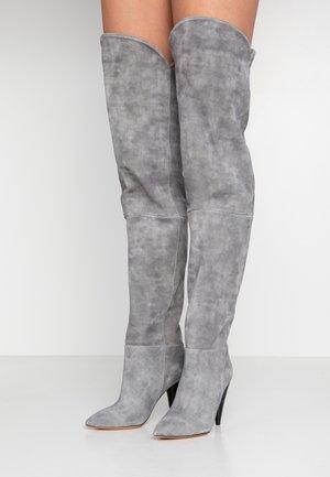 GROOVE - High heeled boots - grey