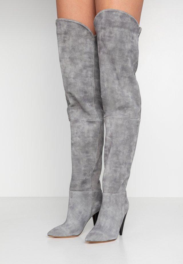 GROOVE - Korolliset saappaat - grey