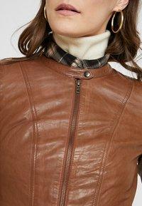 NAF NAF - CLIM - Leather jacket - cognac - 5