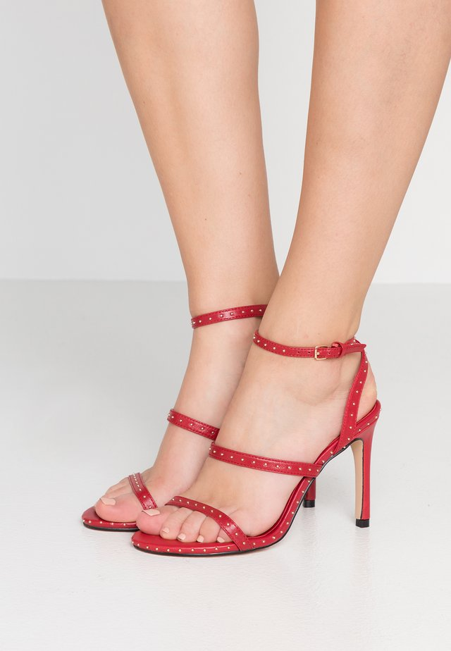 PORTIA - High heeled sandals - red