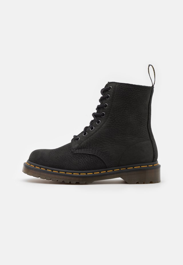1460 PASCAL 8 EYE BOOT UNISEX - Lace-up ankle boots - black milled