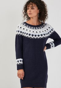 Cache Cache - GERADES - Jumper dress - bleu marine - 0