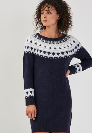 GERADES - Jumper dress - bleu marine