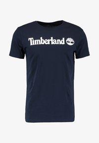 Timberland - CREW LINEAR  - T-shirt z nadrukiem - dark sapphir - 4
